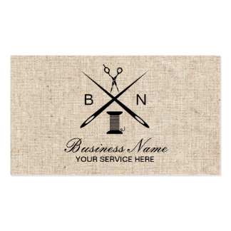 Sewing Seamstress Needles & Threads Vintage Burlap Pack Of Standard Business Cards