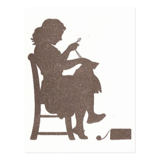 Sewing Silhouette Postcard