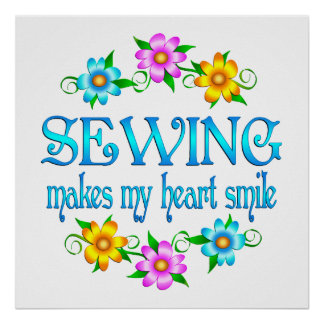 Sewing Smiles Poster