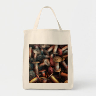 Sewing - Spools Grocery Tote Bag