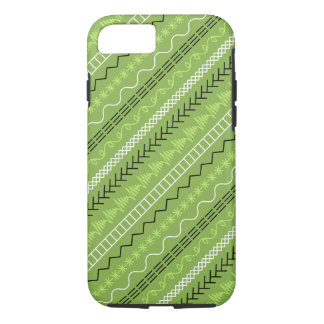 Sewing Stitches Spring Green iPhone Case