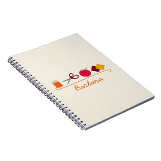 Sewing Stuff Personalized Spiral Notebook