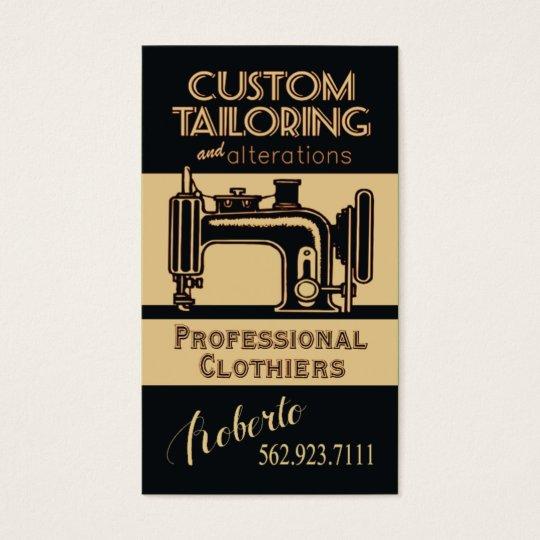 Sewing: Tailor, Dressmaker, Designer, Seamstress Business Card