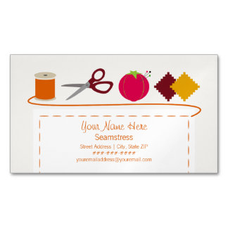 Sewing Theme Magnetic Business Card Magnetic Business Cards