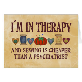 Sewing Therapy Card