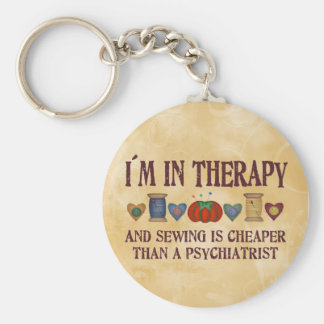 Sewing Therapy Key Ring