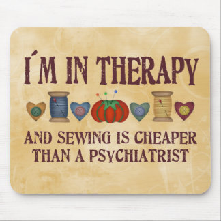 Sewing Therapy Mouse Mat