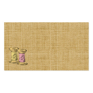 Sewing Thread Burlap Business Card