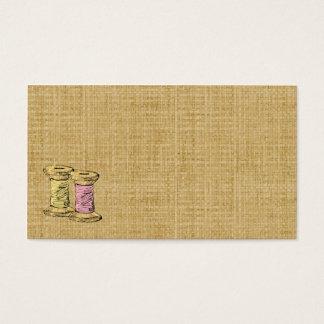 Sewing Thread Burlap Business Card