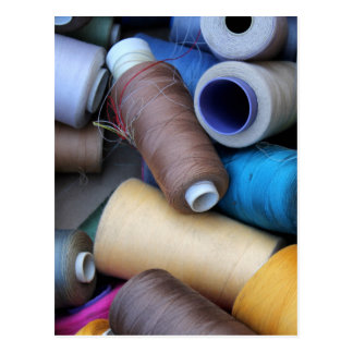 sewing thread postcard