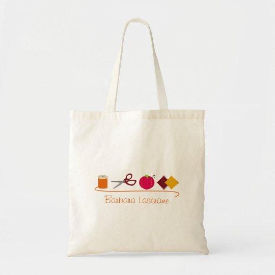 Sewing - Thread, Scissors, Pin Cushion, Fabric