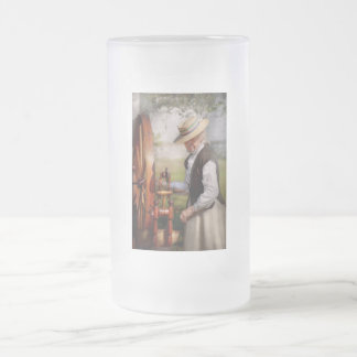 Sewing - Weaving - Big wheel keep on turning Frosted Glass Mug