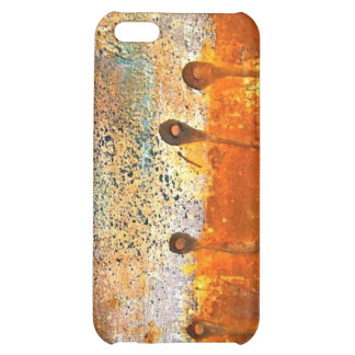 """""""Sewn"""" Abstract Rust Painting iPhone 5C Cases"""