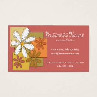 Sewn Flowers Business Cards