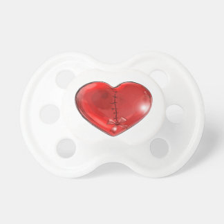 Sewn Heart Pacifier