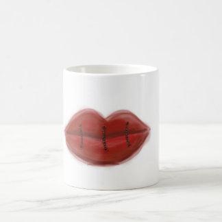 Sewn Lips Coffee Mug