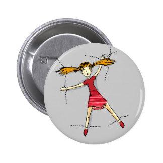 Sewn on 6 cm round badge
