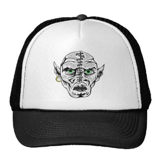 sewn up ghoul skull trucker hats