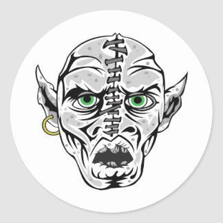 sewn up ghoul skull sticker