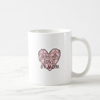 SEWN WITH LOVE BY MOM MUG