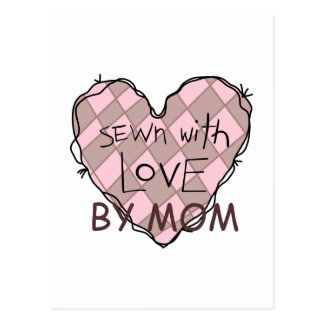 SEWN WITH LOVE BY MOM POSTCARD