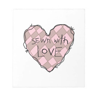 SEWN WITH LOVE SCRATCH PAD