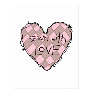 SEWN WITH LOVE POSTCARD