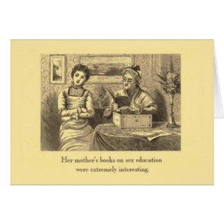 Sex education greeting card
