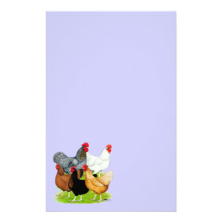 Sex-linked Chickens Quintet Stationery Paper