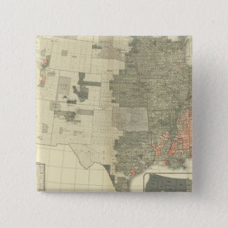 Sexes by counties 15 cm square badge