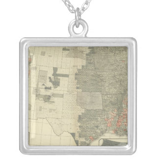 Sexes by counties silver plated necklace