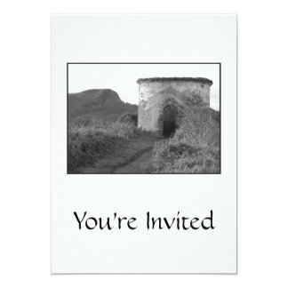 Sexton Burrow Lookout Tower. England 13 Cm X 18 Cm Invitation Card