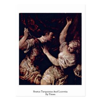 Sextus Tarquinius And Lucretia By Titian Postcards