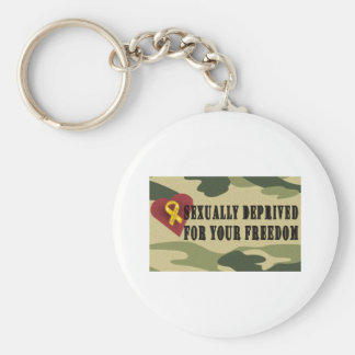 Sexually Deprived for Your Freedom Key Ring