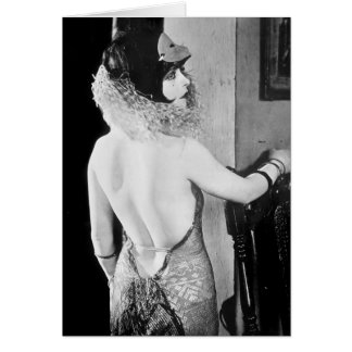 Sexy 1920s Woman Greeting Card