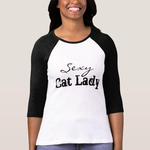 Sexy Cat Lady Tee Shirts