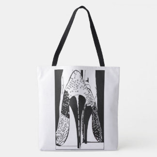 SEXY CATWALK HIGH FASHION DESIGN @55NETWORK TOTE BAG
