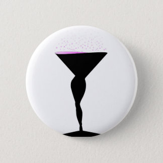 Sexy Champagne Glass 6 Cm Round Badge