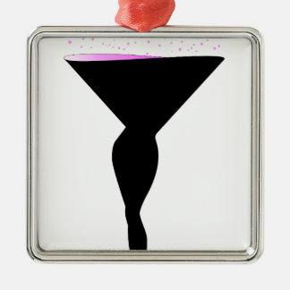 Sexy Champagne Glass Christmas Ornament