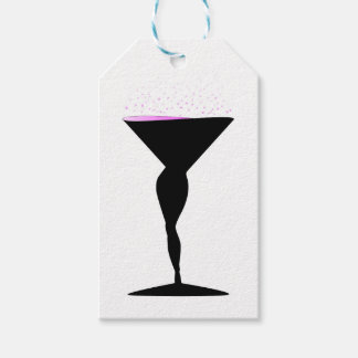 Sexy Champagne Glass Gift Tags