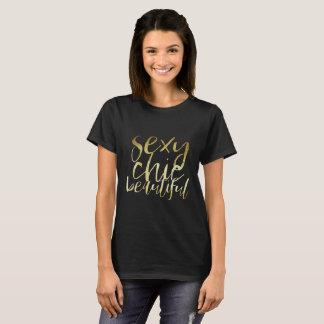 Sexy Chic Beautiful Gold T-Shirt