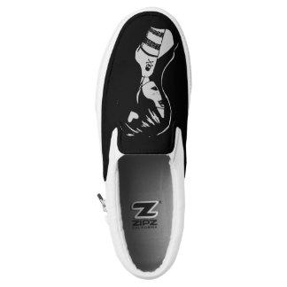 Sexy Emo Pirate Girl Pin Up Slip On Sneaker Black