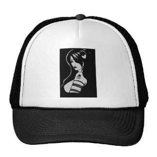 Sexy Emo Pirate Girl Pin Up Trucker's Hat