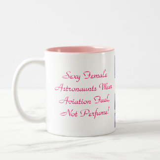 Sexy Female  Astronaunts Wear  Aviation Fuel Two-Tone Coffee Mug