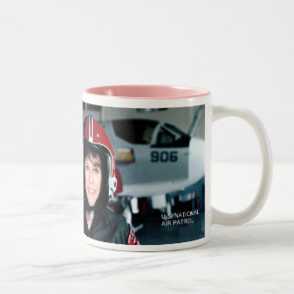 Sexy Female Pilots Wear Aviation Fuel, v.2 JET Two-Tone Coffee Mug