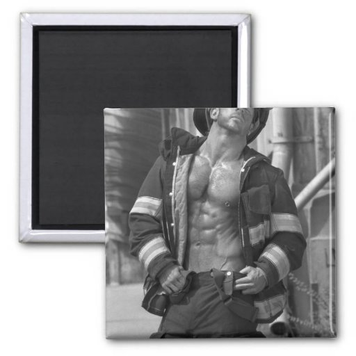 Sexy Firefighter  Magnet