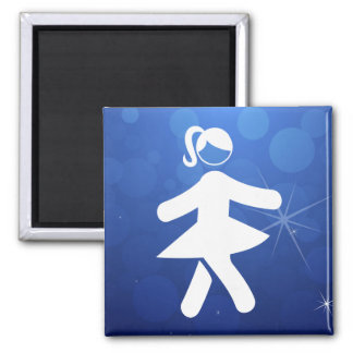 Sexy Girls Pictograph Square Magnet
