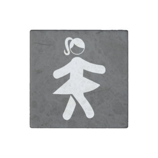 Sexy Girls Pictograph Stone Magnet