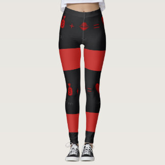Sexy Leggings Black and Red 2