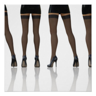Sexy Legs with Stockings as Abstract Background